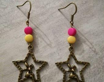 """Boucles d'oreilles """"Fée sur étoile"""""""