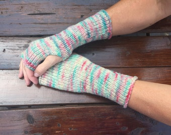 Wool fingerless gloves Womens arm warmers Hand warmers Wrist warmers Natural coarse wool fingerless mittens Fingerless mittens Warm winter