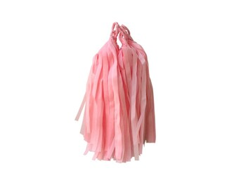 Light Pink Tissue Tassels - Pack of 4 - DIY Kit Assembly Required - Paper Party Decor Decoration Supplies