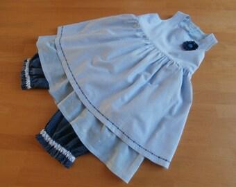 Set of girl's clothing - blue