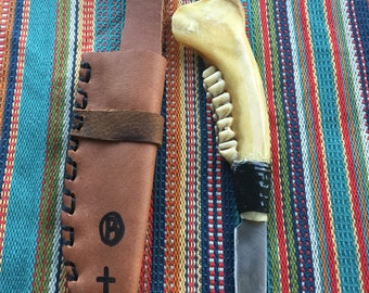 Deer Jaw bone knife.