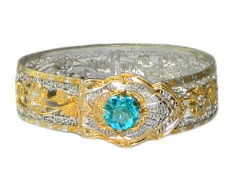 Vintage 1920s Art Deco Silver Filigree Bracelet