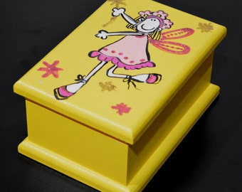 Hand painted Wooden Box Little Fairy