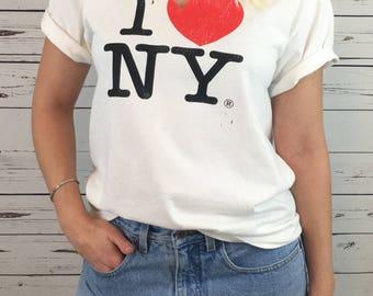 i love new york cut-out tshirt