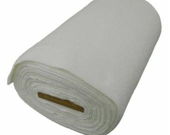 Batting Remnant 63 x 25 Inches Winline Cotton Poly Blend for small projects such as mini quilts and table runners