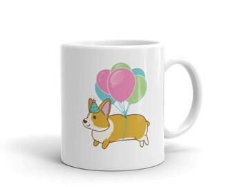 Happy Birthday Corgi Mug : Welsh Corgi Gift