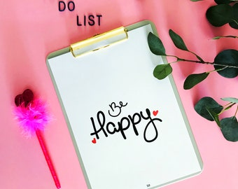 Poster A4 Be happy