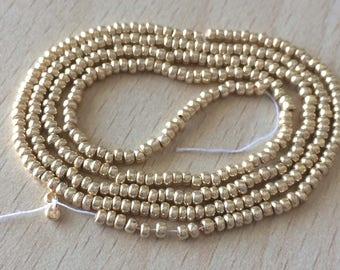 Pearl Gold small 8/o