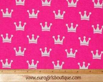 Knit pink crowns New 1 yard cotton spandex