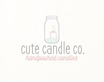 candle logo hand drawn premade logo - Logo Design #307