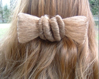 80s HAIR Shaped in a BOW Clip-On