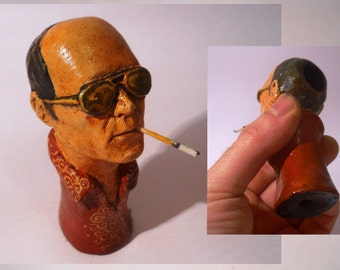 Hunter S Thompson - ceramic