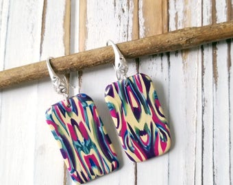 NOUVEAU-2, Handmade Earrings, PolymerClay Jewelry,  Statement fashion earrings, Gifts for her