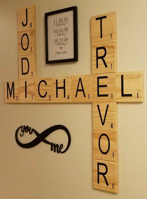 Nice Scrabble Tile Wall Art Sketch - Wall Art Collections ...