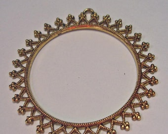 """Filigree ring - Gold Metal,  used for """"Dome of Pearls"""""""