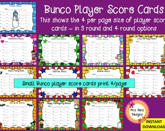 Bunco Party Set: Holiday Party Set ~ 108 pages of Fun Bunco Materials