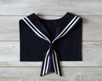 Sailor Collar. Navy Blue.
