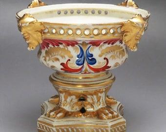 1820s Royal Crown Derby English Porcelain Imari Figural Head Potpourri Dish/Bowl