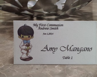 Personalized First Communion Place Card- Confirmation