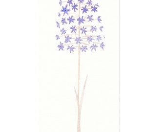 Original watercolor painting of a flower