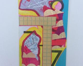 "Original Flashcard Painting ""16-9"""