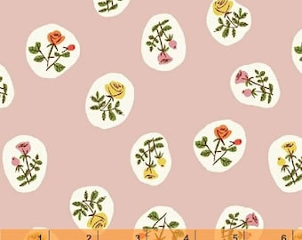 Tiger Lily - Small Roses Pink by Heather Ross from Windham Fabrics
