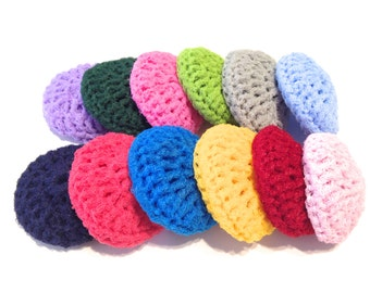 Assorted Crocheted Nylon Netting Dish Scrubbies-Mystery Lot Of Twelve