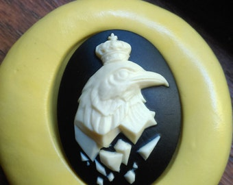 Cameo Cabochon Mold,King of the sky Mold, Silicone push mold for resin, polymer clay, sugar craft- food safe, non toxic