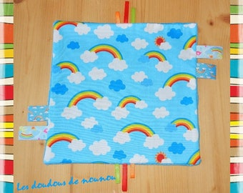 taggy / ribbons baby mixed Rainbow rainbow clouds