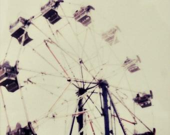 carnival, ferris wheel, polaroid, fine art photography