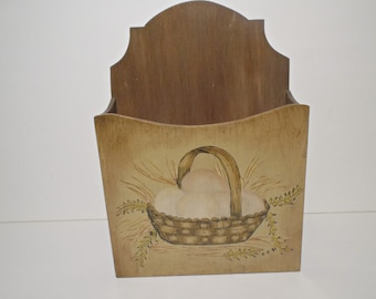 Wall Hanging Wooden Correspondence Holder