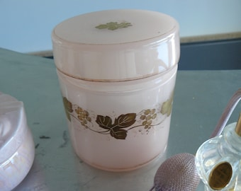 light pink opaline jar