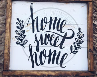 Home Sweet Home / Farmhouse Decor/ Rustic Sign /Shiplap Sign