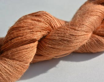 Silk, dream silk, mulberry silk, knitted yarn, copper, yarn, knitting, crochet, hand work, hand dyed