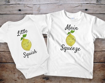 Sibling shirts, Sibling shirts funny, lemon shirts, sibling outfits, funny matching shirts, matching kids shirts, onesie outfit, lemon gifts