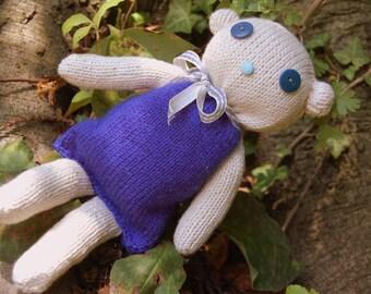 Hand-knitted teddy bear; 12 in. // 30 cm