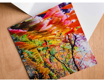 Greeting card - autumn leaves II