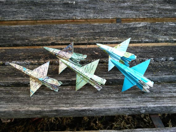 F-16 Paper Airplane Cupcake Toppers, Vintage Maps. Escort Cards, Wedding Decoration, Party, Birthday, Travel Wedding. Globe