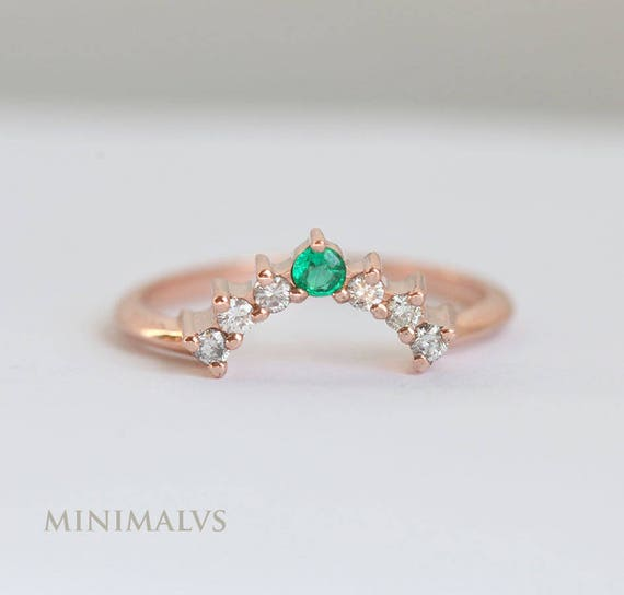 emerald and rings wedding gold white context ring productx diamond p