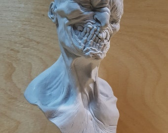 resin bust of Zombie with stand