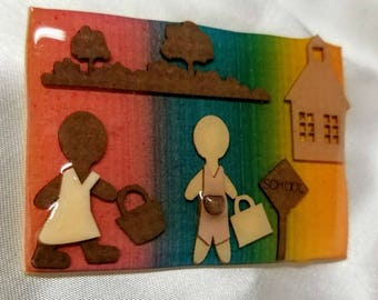 Little People Pin by Lucinda