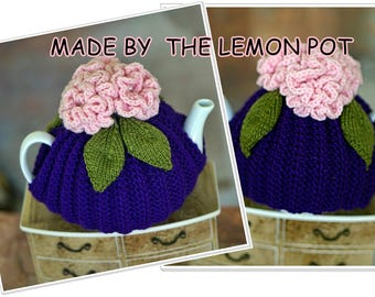 hand knitted tea cosy by the the lemon pot