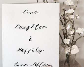 Wedding & special occasion signs