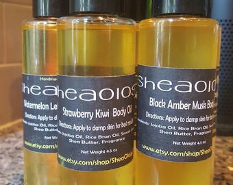 Body Oil/ Massage Oil/ Organic Skincare/ Healing Oil/ Vegan Friendly/ Jojoba Oil and Sweet Almond Oil/ Body Moisturizer