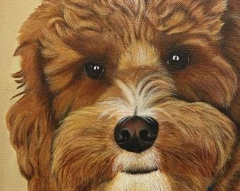 8x10 Custom Pet Portrait Painting