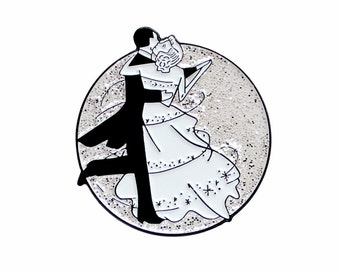 Fred Astaire and Ginger Rogers classic movie enamel lapel pin
