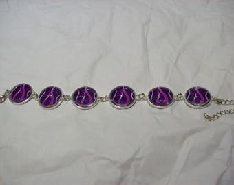 Purple Flame 6 Image Hot Rod flame Inspired Bracelet