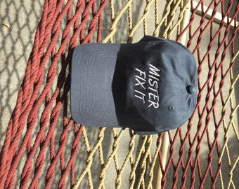 Mister Fix It - Navy Hat With White Letters