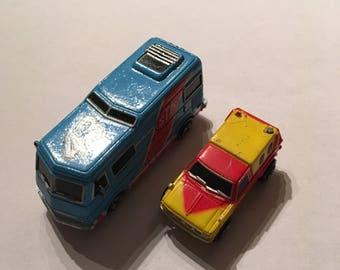 Micro Machines vintage rare van lot