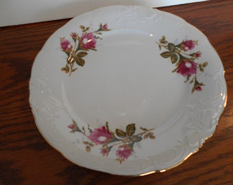 Wawel Pompadour Rose Porcelain Dinner Plate Made in Poland